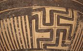 picture of pottery  - Pattern on ancient pottery  for making background images - JPG