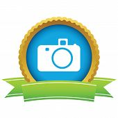 pic of megapixel  - Gold camera logo on a white background - JPG