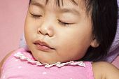 pic of have sweet dreams  - Sleeping Asian child having a sweet dream - JPG