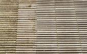 stock photo of asbestos  - Asbestos concrete roof tiles spread across the whole frame - JPG