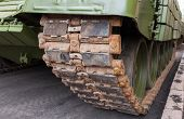 picture of caterpillar  - Caterpillars of a military tank close up detail - JPG