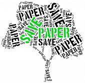image of reuse recycle  - Save paper - JPG