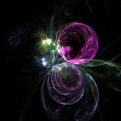 image of trippy  - Cute abstract fractal wallpaper on black background - JPG