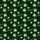 picture of medical marijuana  - Green and White Medical Marijuana Tile Pattern Repeat Background that is seamless and repeats - JPG