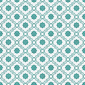 picture of dharma  - Teal and White Wheel of Dharma Symbol Tile Pattern Repeat Background that is seamless and repeats - JPG