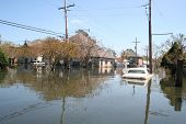 image of katrina  - this photo shows the flooding incurred in new orleans in the aftermath hurricane katrina - JPG