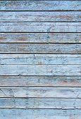 Cracked Weathered Blue And Green Shabby Chic Painted Wooden Board Texture, Front View poster