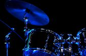 picture of drum-kit  - Drum Kit on the stage - JPG