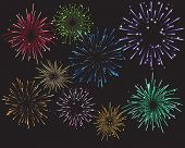 stock photo of guy fawks  - Celebration Fireworks and Colors - JPG