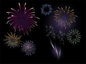 image of guy fawks  - Firework vector - JPG