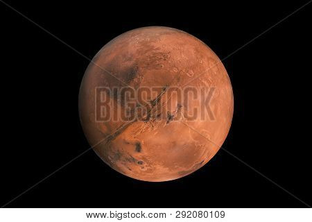 Mars On A Black Background