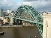 stock photo of tyne  - Bridge over the river Tyne in Newcastle - JPG