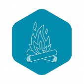 Bonfire Icon. Outline Illustration Of Bonfire Icon For Web poster
