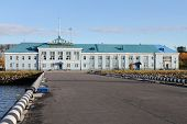 stock photo of murmansk  - Port station building in port Murmansk Russia - JPG