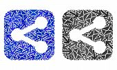 Mail Share Icon Collage Of Envelopes And Arrows With Blue Color. Abstract Vector Share Illustration  poster