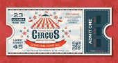 Circus Tickets. Vintage Carnival Event Banner, Retro Luxury Coupon With Marquee And Party Announceme poster