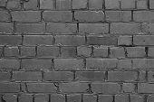 Dark Grey Brick Wall Background. Vintage Background Dark Gray Brickwall. Dark Stone Background. Gray poster
