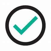 Check Mark  Icon. Check Mark Logo Vector Or Icon. Tick Symbol In Green Color Illustration. Accept Ok poster