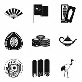 Exotic Tour Icons Set. Simple Set Of 9 Exotic Tour Icons For Web Isolated On White Background poster