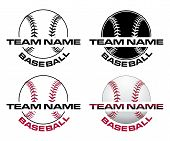 Baseball Designs With Team Name Is An Illustration Of A Four Versions Of A Baseball Design That Can  poster