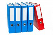 image of file folders  - File folders with documents and papers - JPG
