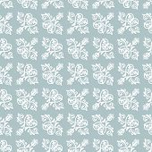 Classic Seamless Pattern. Damask Orient Light Blue And White Ornament. Classic Vintage Background poster