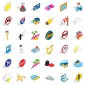 Sinking Icons Set. Isometric Style Of 36 Sinking Icons For Web Isolated On White Background poster