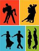 image of jive  - Abstract vector illustration of latin american dancers - JPG