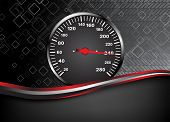 Vector Car Speedometer. Abstract Background