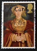 UNITED KINGDOM - CIRCA 1997: A stamp printed in Great Britain shows Anne of Cleves wife of Henry VII