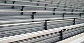 foto of bleachers  - Bleachers in a stadium or school for the fans  - JPG