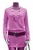 picture of jupe  - collection of females pink dress on mannequin - JPG