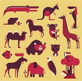 pic of brasilia  - vector animals set - JPG
