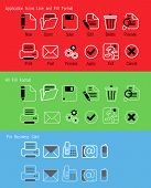 Application and Busness card icons
