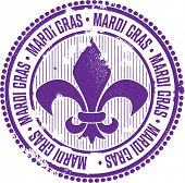 Vintage Mardi Gras Celebration Stamp