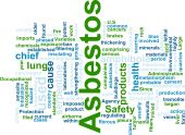 image of asbestos  - Word cloud concept illustration of asbestos hazard - JPG