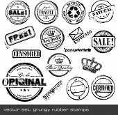 vector set: rubber stamps