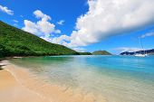 stock photo of virgin  - Colorful beach in St John - JPG