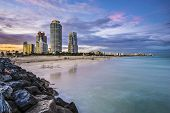 picture of atlantic ocean beach  - Miami - JPG