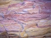 foto of valley fire  - Layers of pink and yellow sandstone in Valley of Fire State Park Nevada - JPG
