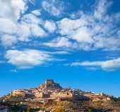 Morella village is Maestrazgo Castellon with castle in Spain