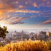 Alicante cityscape skyline in mediterranean sea Valencian Community of spain