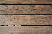 foto of board-walk  - A genuine well used old walked on Wood Plank Board Walk - JPG