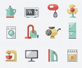 foto of food processor  - Set of household appliances icons - JPG