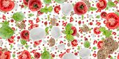picture of antipasto  - Antipasto background isolated on pure white background - JPG