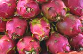 stock photo of dragon fruit  - pattern of dragon fruit or pitaya or pitahaya - JPG