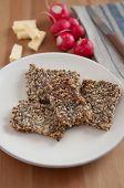 pic of flaxseeds  - Whole Grain Crispbread with sunflower seeds - JPG