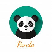 picture of panda  - Panda portrait in flat style - JPG