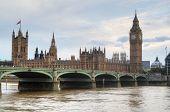picture of westminster bridge  - Big Ben and Westminster Bridge in London England - JPG