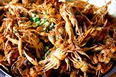 stock photo of crab  - Fried Soft Shell Crab in Ho Chi Minh City Vietnam - JPG